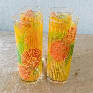 Vintage Floral Tumbler Glasses